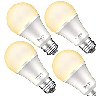 Smart Light Bulb Works with Alexa, Google Home, Gosund Dimmable LED WiFi Bulb No Hub Required, Warm White LED Bulb E26 A19 2700K 8W 75W Equivalent 4pack