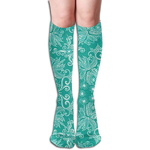 Socks Turquoise Damask Vintage Womens Stocking Decoration Sock Clearance For Girls