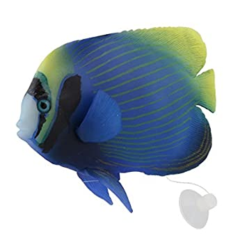 Acuario de silicona DealMux artificial brillante efecto de Pez ángel imperial de peces tropicales Decoración Animal: Amazon.es: Productos para mascotas