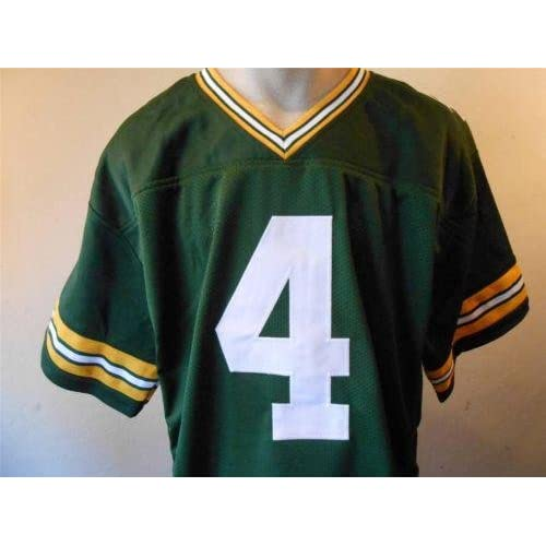 newest 62b04 a474a Brett Favre Signed Jersey - Custom Stitched Pro Style #4 XL ...