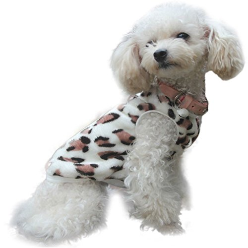 haoricu Puppy Clothes, Villus Leopard Warm Vest for Small Dog Cat Custome Pet Vest Tee Shirt Apparel (XS, B) ()