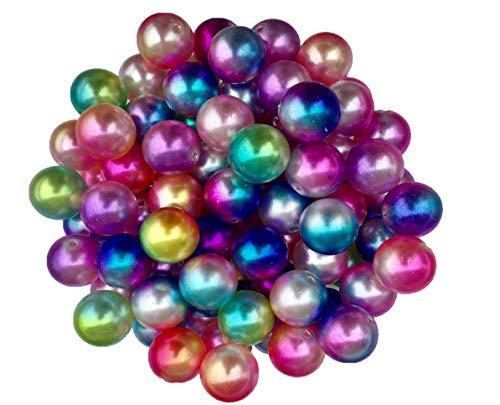 - 20mm Ombre Pearls Beads 50 Count Mixed Pack Chunky Bubble Gum Beads