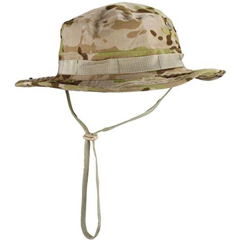 jffcestore Men's Military Camo Boonie Hat Fishing Sun Hat Snap Wide Brim Bucket Hat with Adjustable Strap(Desert (Desert Camouflage Camo Hat)