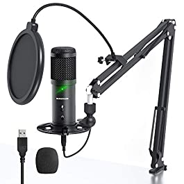 USB Streaming PC Microphone, Zero-Latency Monitoring SUDOTACK Professional 192kHz/24Bit Studio Cardioid Condenser Mic…