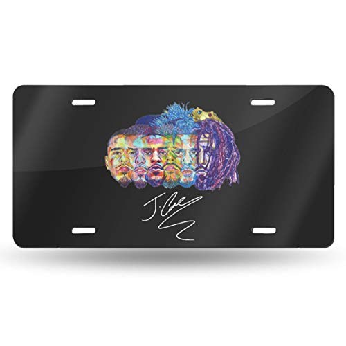 (YJKPA License Plate, J-Cole KOD Logo Aluminum License Plates Metal Signs for Car Truck Vehicles Decoration 6
