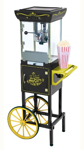 Nostalgia Electrics CCP-200BLK Vintage Collection 48-Inch Popcorn Cart, Black