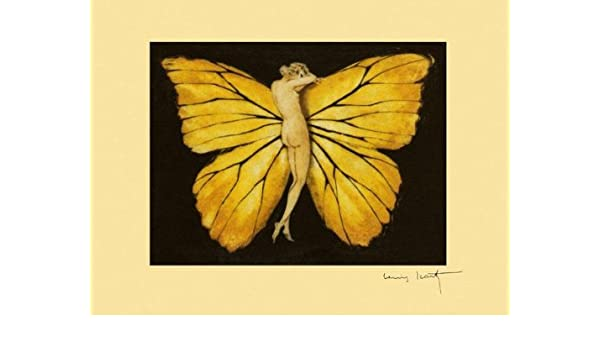 Icart Butterfly Lady Papillon Vintage Poster Reproduction FREE SHIPPING in USA
