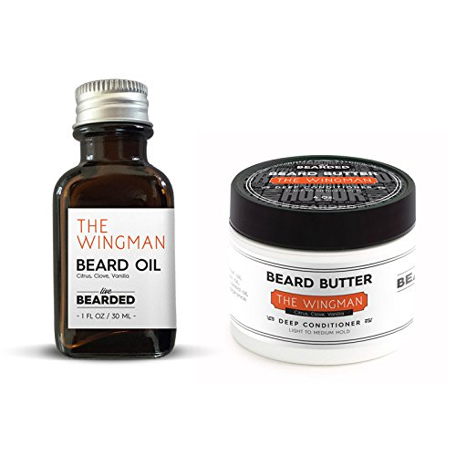 Beard Kit - The Essentials (Beard Oil and Beard Butter) (Citrus, Clove, Vanilla - The Wingman)