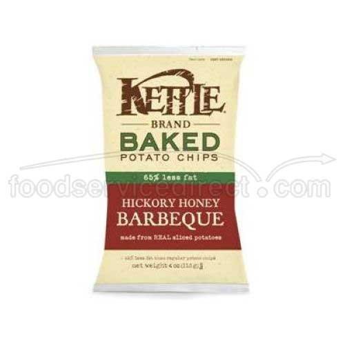 Kettle Baked Hickory Honey Barbeque Potato Chips - 4 oz. bag, 15 per (Kettle Baked Chips)