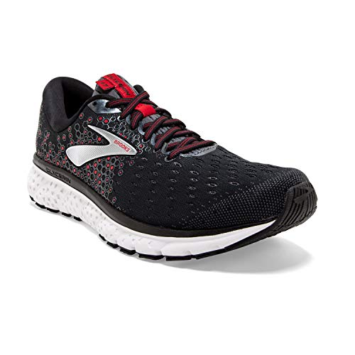 Brooks Mens Glycerin 17 Running Shoe - Black/Ebony/Red - D - 12.0