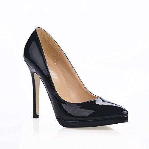 Click femmes Noir des en la à pour modèles rouge vernis cuir chaussures pointe à talons de femmes pour Exposition 8UxwIqE8