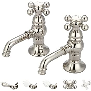 Vintage Classic Double Handle Bathroom Faucet Finish: Polished Nickel,  Style: Porcelain Lever Handles
