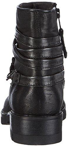 Mjus 582205 - Botas de caño bajo de piel para mujer Negro (Ferro+nero)