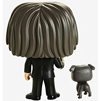 Funko Pop! Movies: John Wick - John in Black Suit with Dog Buddy: Toys & Games