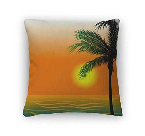 Gear New Throw Pillow Accent Decor, Beach 4, 20