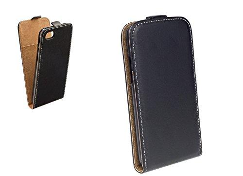 """Handy Flip Case schwarz mit integrierter Silikonhülle für """"Apple Iphone 6s"""" Schutz Hülle Tasche Schale Etui Cover"""
