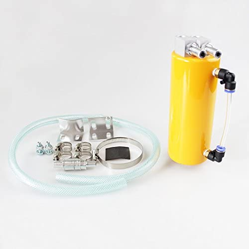 Cylinder Billet Aluminum Engine Oil Catch Reservoir Breather Tank//Can Yellow