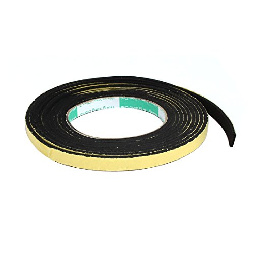 (uxcell 10mmx3mm Single Sided Sponge Tape Adhesive Sticker Foam Glue Strip Sealing 2 Meters)