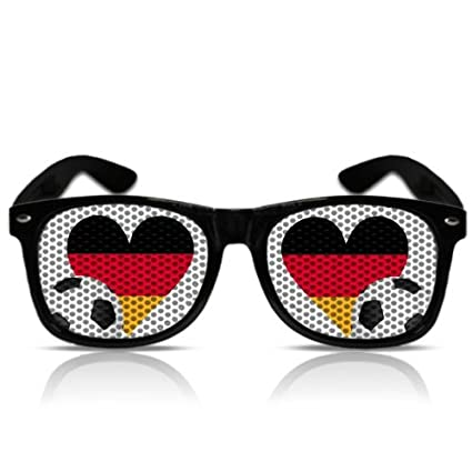 WM Sonnen Brille Party Spass Nerd Porno Atzenbrille WM Brasilien Fanartikel Partygag Funbrille Fasching Karneval WM Herz Deutschland