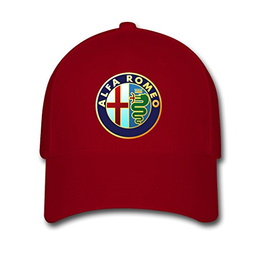 leeu-alfa-romeo-logo-adjustable-baseball-caps-red