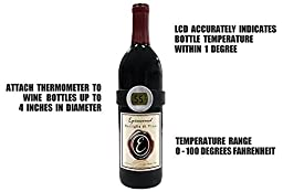 Wine Thermometer - Best wine gift accessory for any Wine Enthusiast to serve your bottles at the correct Wine Temperature