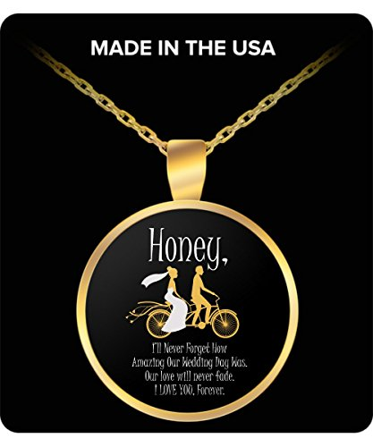 BEST ANNIVERSARY GIFT FOR HUSBAND OR WIFE Tandem Bicycle Wedding Day Necklace Matching Wedding Anniversary Necklaces Bride to Groom or Husband to Wife Gift Necklace