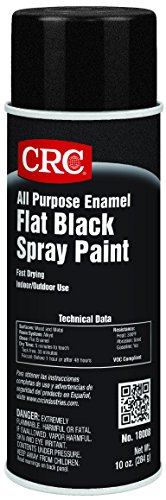 CRC All Purpose Enamel Spray Paint, 10 oz Aerosol Can, Flat