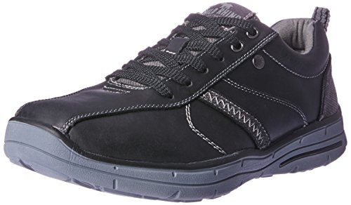 Wild Rhino Men Hayden Trainers Shoes Black (BLACK)