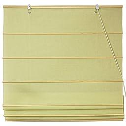 Oriental Furniture Cotton Roman Shades - Yellow Cream - (36 in. x 72 in.)