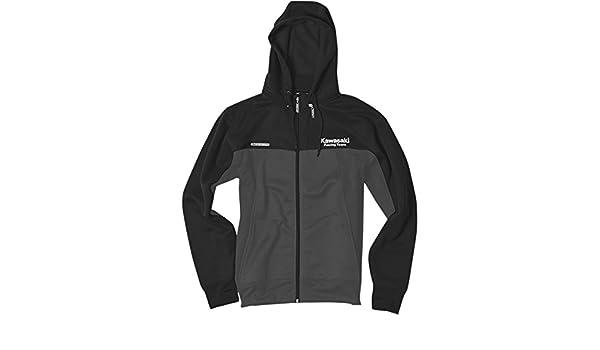 Factory Effex 20-88116 Unisex-Adult Kawasaki Team Lightweight Hooded Sweatshirt Black, X-Large 1 Pack