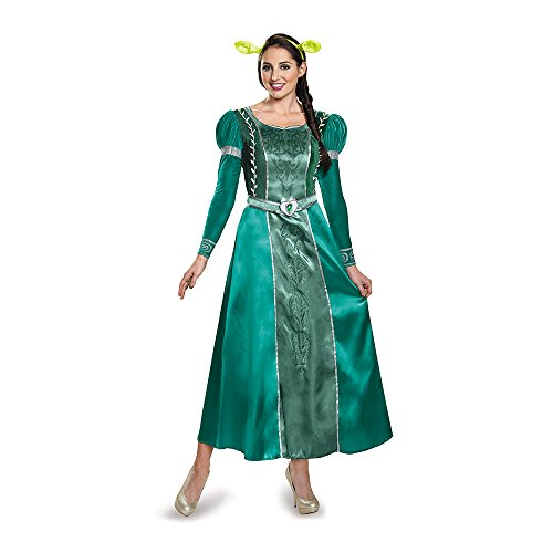 Disguise Women's Fiona Deluxe Adult Costume, Green, (Shrek Costumes)