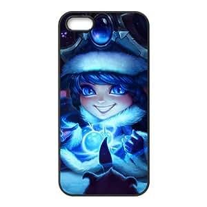 Liga de Leyendas Winter Wonder Lulu U0D64S8RJ funda iPhone 5 5s caso funda 4U40DT negro