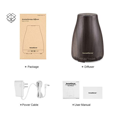 Aromatherapy Oil Diffuser Ultrasonic Humidifier with LED Lights Auto for Home Office