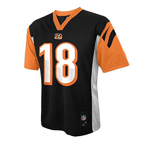 NFL Youth Boys 8-20 A.J. Green Cincinnati Bengals Boys -Player Name Jersey, Black, M(10-12) (Cincinnati Bengals Football Jersey)