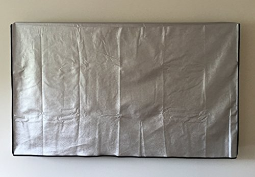 37'' Flat Screen TV - OUTDOOR Water Resistant Silver Cover, Ideal for Plasma and LCD TV - 36.25''W x 4''H x 22.75''H by COMP-BIND