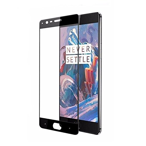 huge discount ad075 3564a (2 Pack) OnePlus 3 / OnePlus 3T Screen Protectors,Full Coverage Tempered  Glass for OnePlus 3T with Anti-fingerprint Bubble-Free (black)