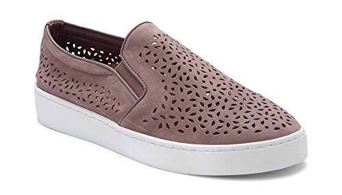 Vionic Women's Splendid Midi Perf Slip-on - Ladies Sneakers with Concealed Orthotic Arch Support Dusk 8.5 M US