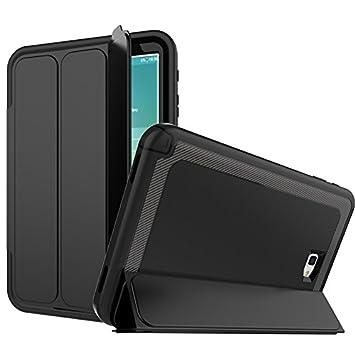 Eouine Funda Samsung Galaxy Tab a 10.1 2016, Carcasa Folio Stand Protectora de Cuero PU Auto Reposo/Activación Función Fundas para Tablet Samsung Tab ...