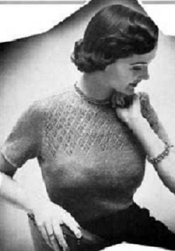 Twinkle Knitting Patterns - TWINKLE SWEATER - A Vintage 1940's-1950's Knitting Pattern for a Ladies Knitted Sweater (Knit Cratfs Yarn clothes clothing) Kindle e-Book Download