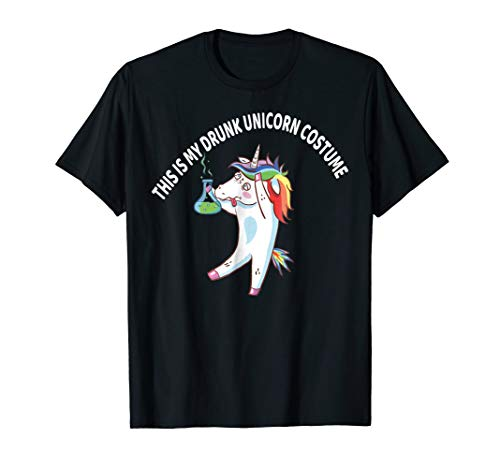 Drunk Unicorn Costume Shirt Kids Men Women Halloween Dab Tee for $<!--$16.99-->