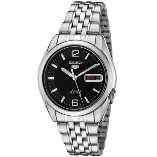 21 Jewel Automatic Watch - Seiko Men's SNK393K Automatic Stainless Steel Watch