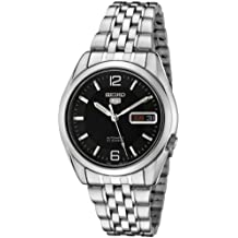 Seiko Men's 5' Japanese Automatic Stainless Steel Casual Watch, Color:Silver-Toned (Model: SNK393K)