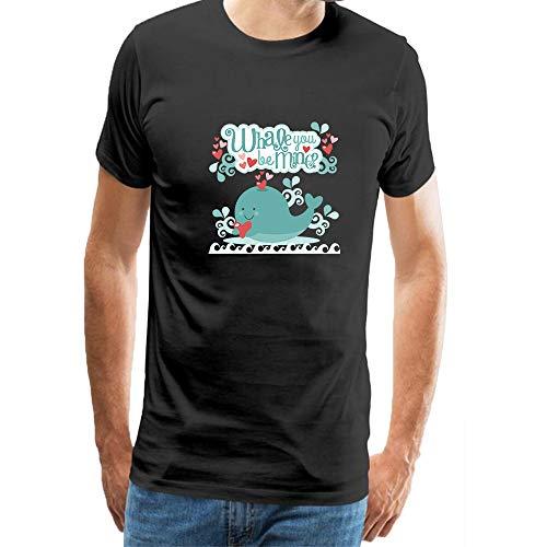 Ocean Art Whales T-Shirt Novelty Graphic Cotton Mens Costume Funny T Shirt Black L ()