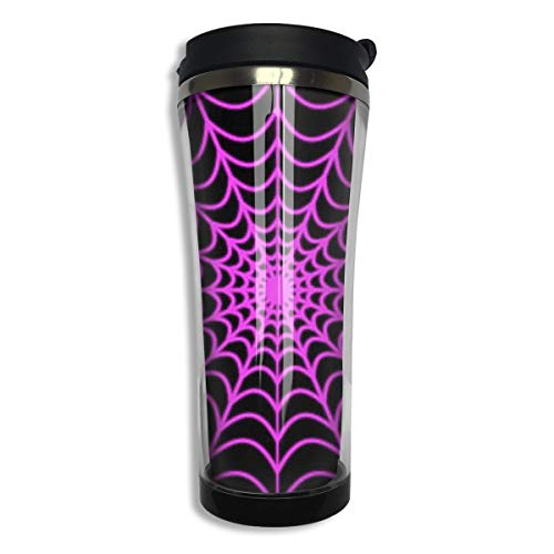 Tumbler Travel Mug Halloween Spider Web Gift Food Grade ABS Mug Insulated Both Cold & Hot Beverage Cup For Home Outdoor With Lid 14 Oz (420 -