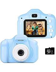 le-idea Kids Camera 1080P 12 MP Dual Selfie Foto/HD Video Digitale Camera's, 2 inch IPS Scherm Shockproof Kind Digitale Camera Camcorder Geschenken voor 3-10 Jaar Oude Kleine Jongens/Meisjes (32 GB SD inbegrepen)