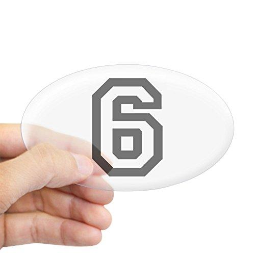 Make Varsity Soccer (CafePress - Number 6 Oval Sticker - Oval Bumper Sticker, Euro Oval Car Decal)
