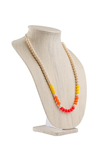 Willow + Mae - Sunset Miracle Silicone Teething Necklace for Mom and Baby - Red, Orange, Yellow & Ivory