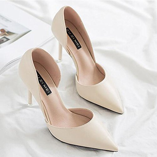 Night Haut Soirée Court Mesdames Haut Chaussures Chaussures Automne Talon Pointu De Sexy Toe Shoes Club Work White Stiletto Talons 76Sq7g