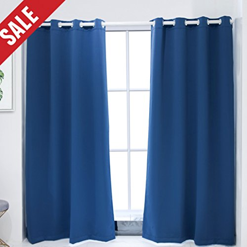 Mr.Ding Blackout Grommet Curtains for Bedroom – Thermal Insulated Soft Touching Room Darkening Window Drapes (Set of 2 Panels, W52 xL84Inch, Navyblue) Review