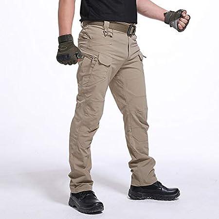 Domeilleur Pantaloni da Lavoro da Uomo Impermeabili da Lavoro Lunghi con Tasche Pantaloni Larghi
